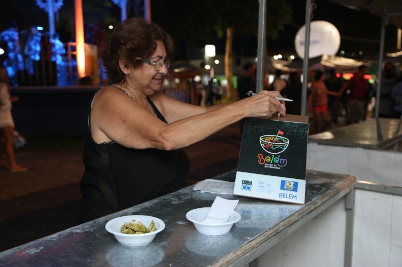 Urnas estão espalhadas pela área da tapiocaria, nas quais o público pode votar para escolher a Melhor Tapioca de Mosqueiro