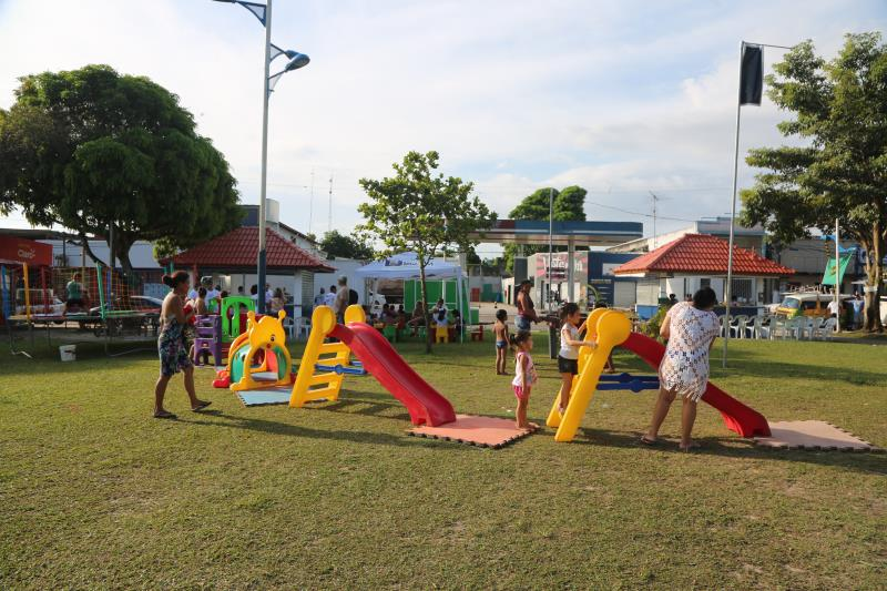 O Circuito Gastronômico ainda tem atrações, com muitas brincadeiras para as crianças
