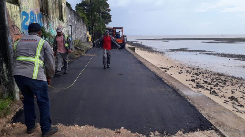 O trabalho de recuperação de vias também chegou aos distritos de Belém, Mosqueiro, Icoaraci e Outeiro