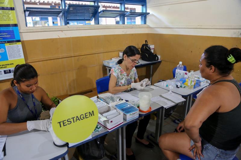 Nos três dias do Prefeitura no Bairro foram feitos mais de 700 testes rápidos de detecção de HIV, Sífilis e Hepatites