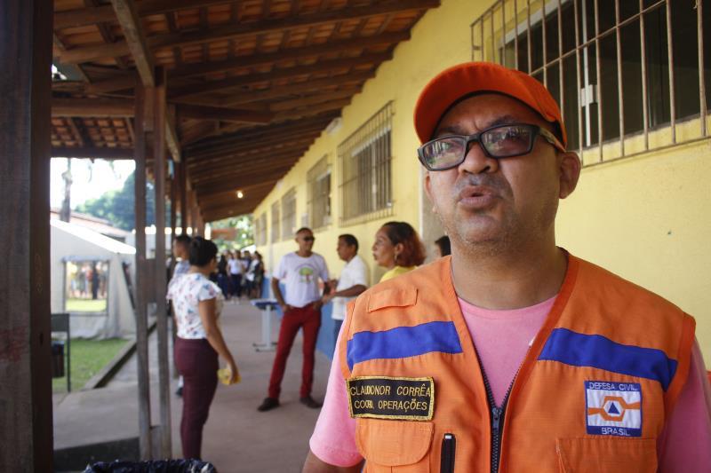 Claudionor Correa, coordenador operacional da Defesa Civil.
