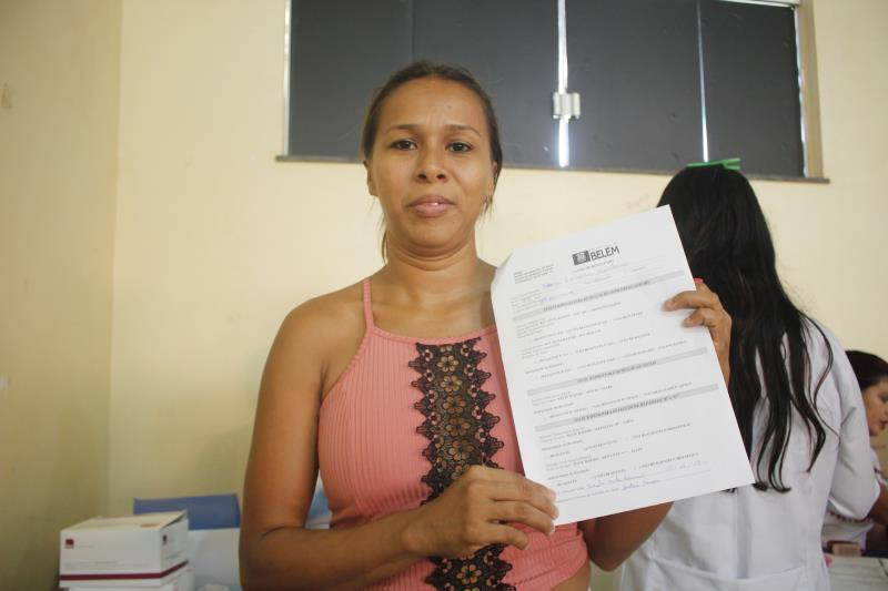 Ednea Monteiro, 33 anos, fez o teste rápido.
