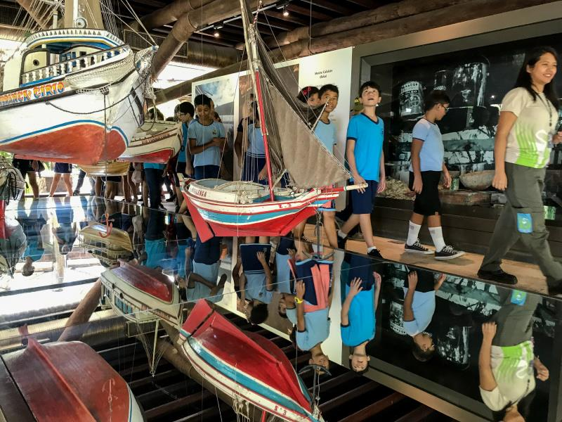 Um dos passeios da excursão foi ao Museu da Navegação, que fica no Mangal das Garças