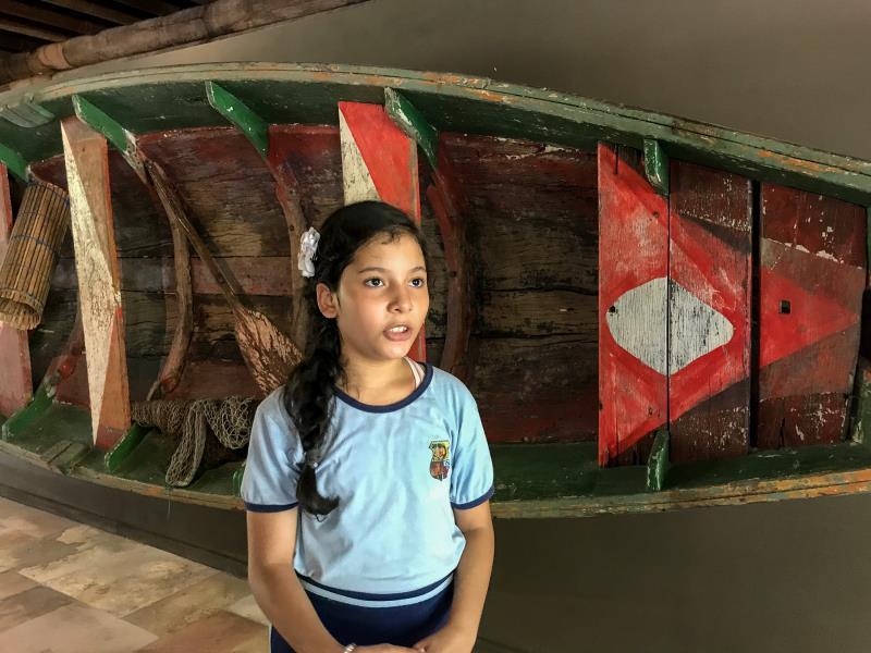 Ana Nycolle Almeida, de 10 anos, estudante do 5º ano, não imaginava a quantidade de minérios que existe no estado do Pará