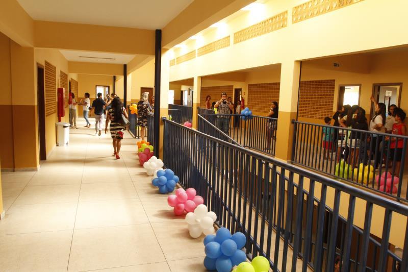 As novas escola inauguradas pela Semec possuem o mesmo padrão arquitetônico e são climatizadas