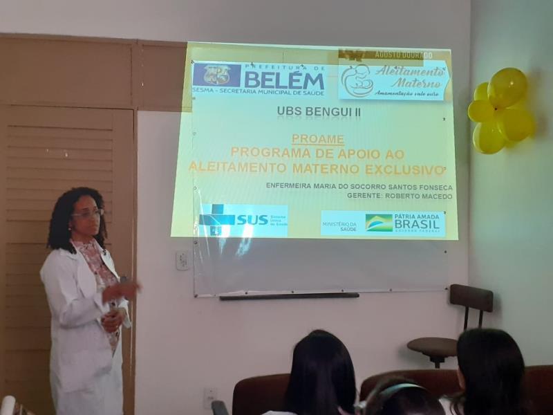 Na UMS Benguí também houve palestras sobre aleitamento materno