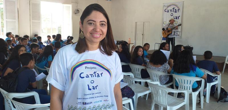 """""""Essa é a primeira vez que a escola recebe o projeto. Os alunos e os professores gostaram muito"""", contou Paula Monteiro, diretora da escola."""