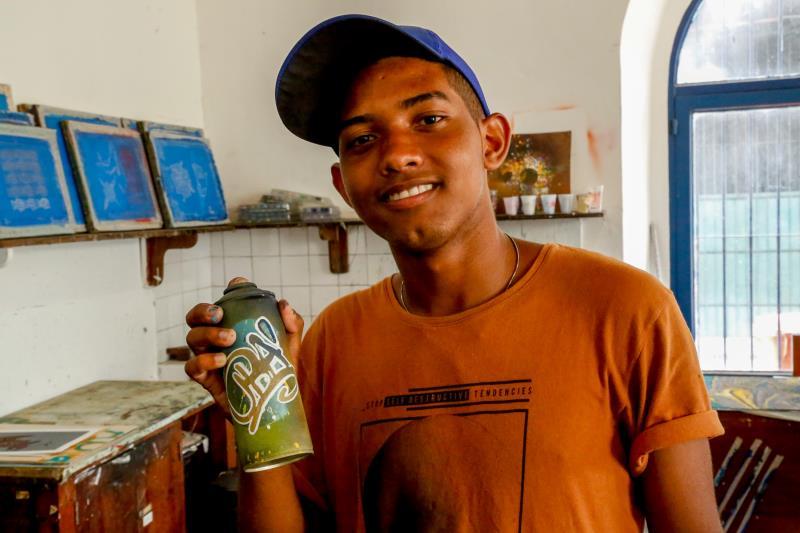 Carlos Henrique Barbosa tem 16 anos e conheceu as atividades do projeto, a partir de uma ação do Ubá no bairro da Cabanagem