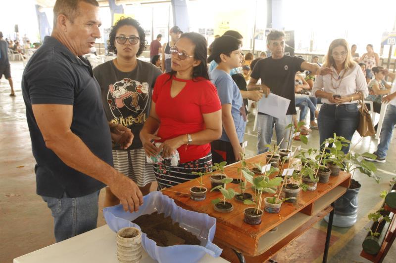 A Semma está presente no evento promovendo orientações sobre mudas de plantas