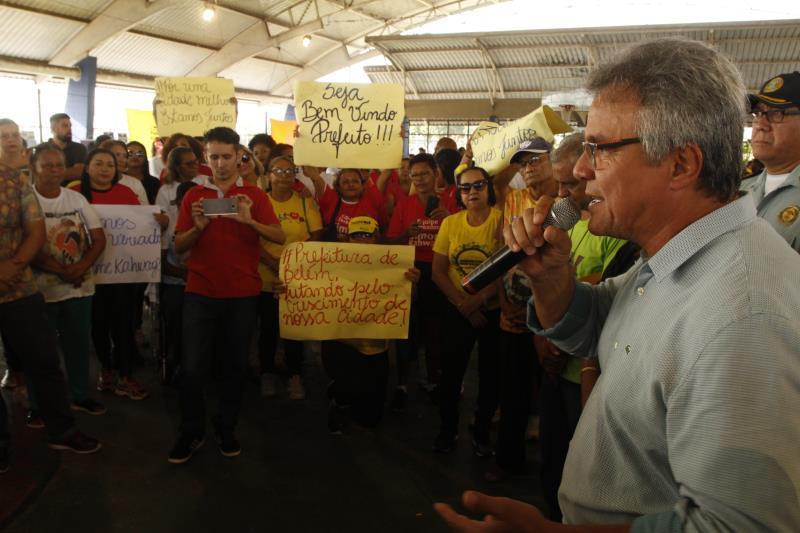 O prefeito de Belém, Zenaldo Coutinho, disse que o Prefeitura no Bairro é feito motivado pelas demandas dos moradores