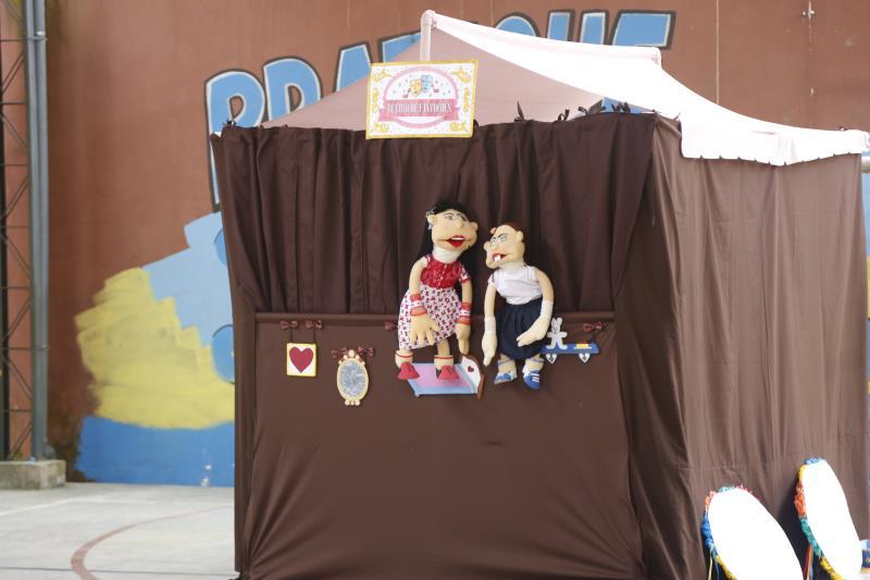 As atividades do projeto utilizam a linguagem do teatro de fantoches para falar sobre bullying