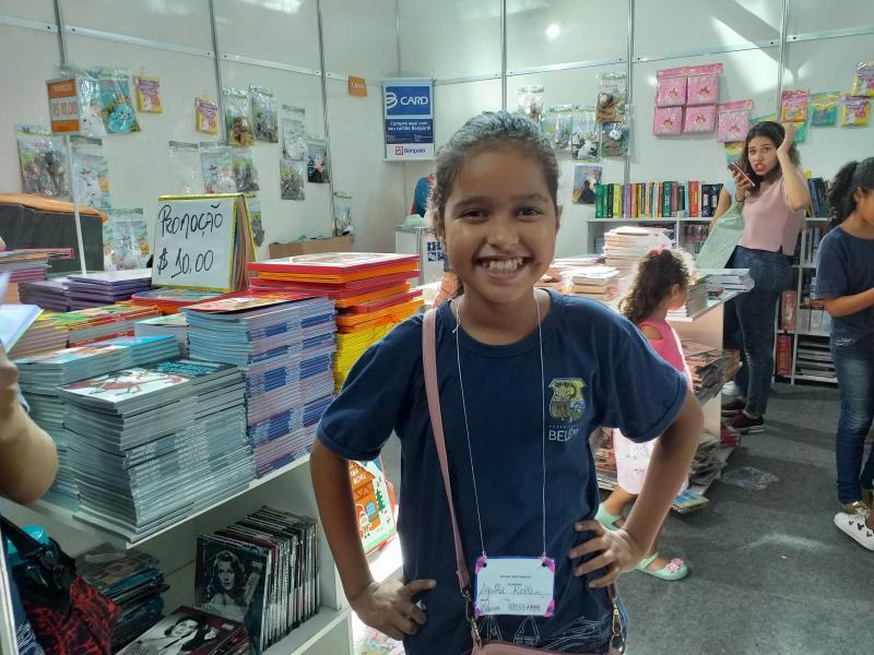 Agatha Kellen da Silva, 10 anos, aluna da Escola Municipal de Ciro Pimenta, estava adorando o passeio