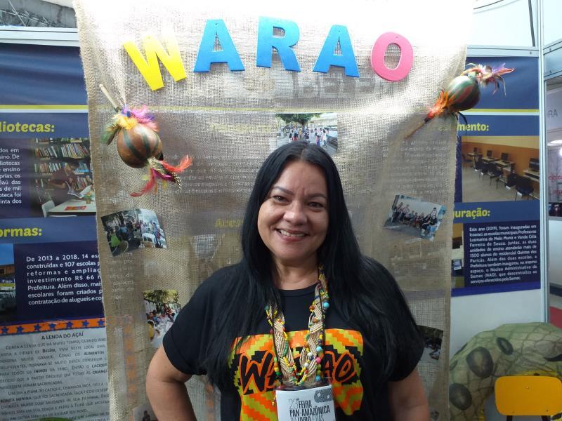 Regeane Esteves, coordenadora do Atendimento Escolar Indígena da Semec