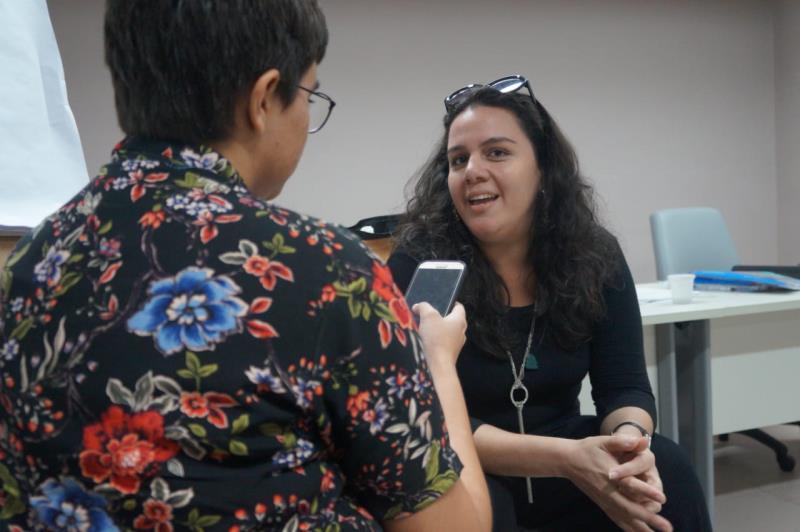 Paula do Espírito Santo é coordenadora executiva do Companhia da Arte, projeto que trabalha com o protagonismo do público idoso.
