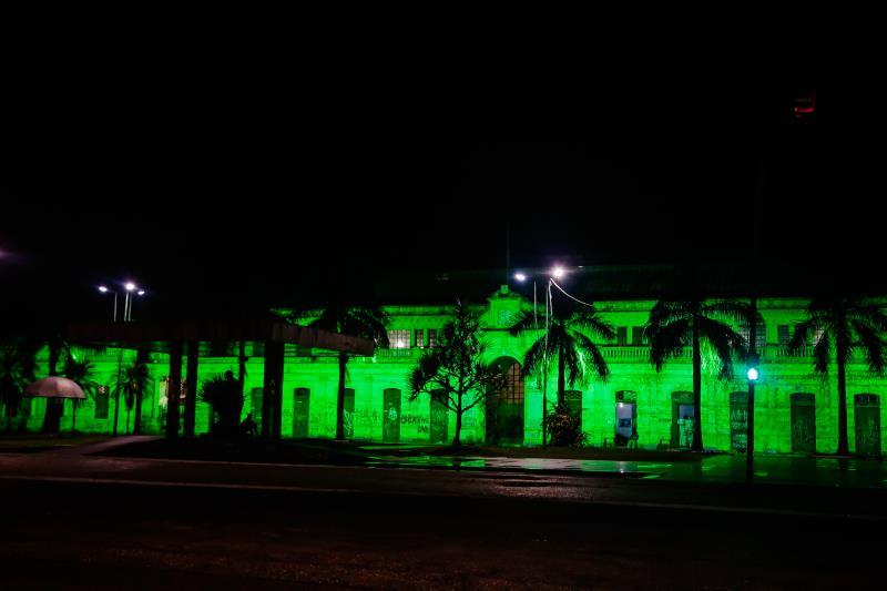 Prefeitura aderiu à Campanha Nacional Setembro Verde, em alusão ao Dia de Doação de Órgãos, e a Seurb instalou luzes verdes no Mercado de São Brás e outros prédios