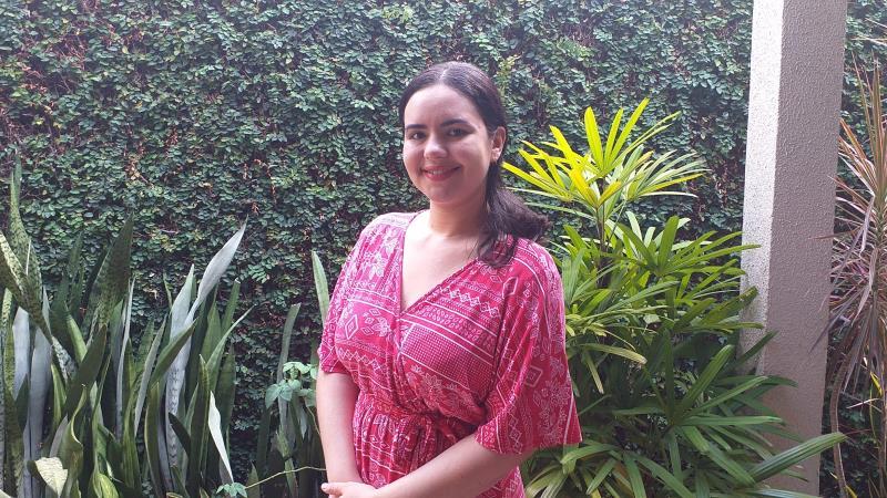 Monique Cruz, professora da Escola Municipal Ernestina Rodrigues, participa dos cursos formadores todos os anos