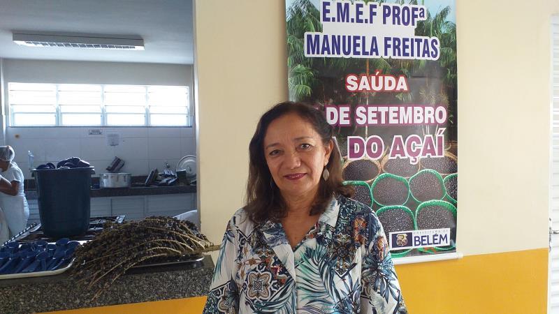 A nutricionista responsável pelo Pnae, Carmem Brandão, explica que o açaí é rico em vitaminas C e do complexo B e fornece muitos sais minerais, como o ferro, cálcio e potássio