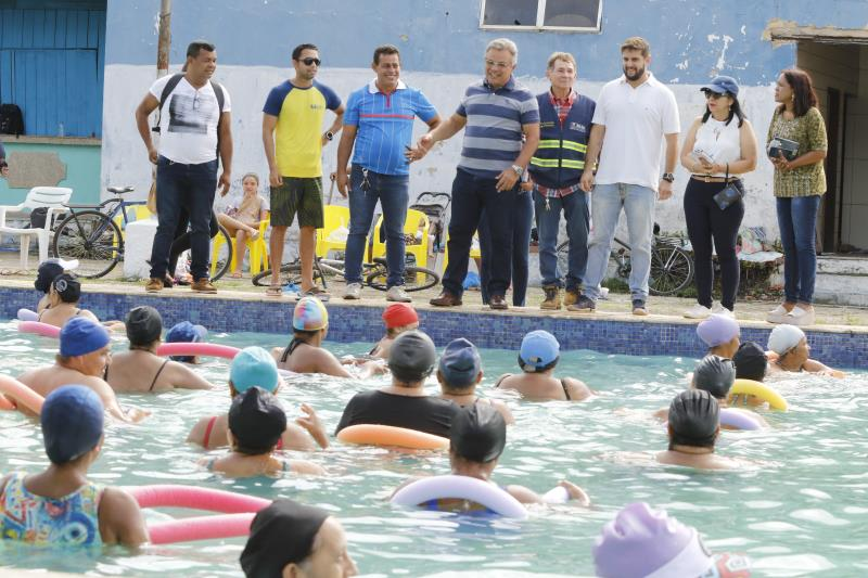 As atividades na piscina já atendem a 700 adultos dos bairros da Condor, Guamá, Terra Firme e Cremação, que praticam a atividade de hidroginástica, e 350 crianças, a natação