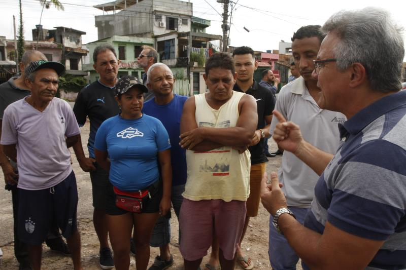 O projeto de revitalização da área do antigo Iate Clube, na Condor, foi apresentado também aos moradores do local