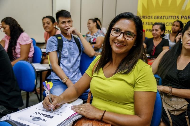 Para Leidiane Amaral, de 40 anos, o curso vai contribuir muito com os objetivos dela