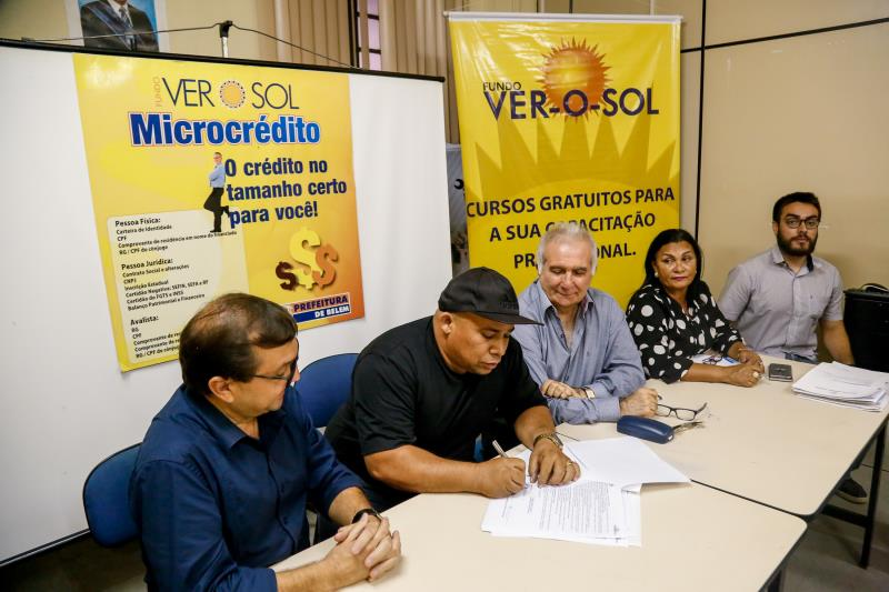 A linha de microcrédito é uma iniciativa da Prefeitura de Belém, por meio da Secretaria de Economia e Fundo Ver-o-Sol