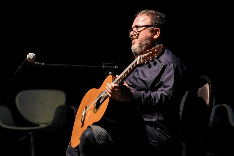 O músico Salomão Habib participou da abertura do evento