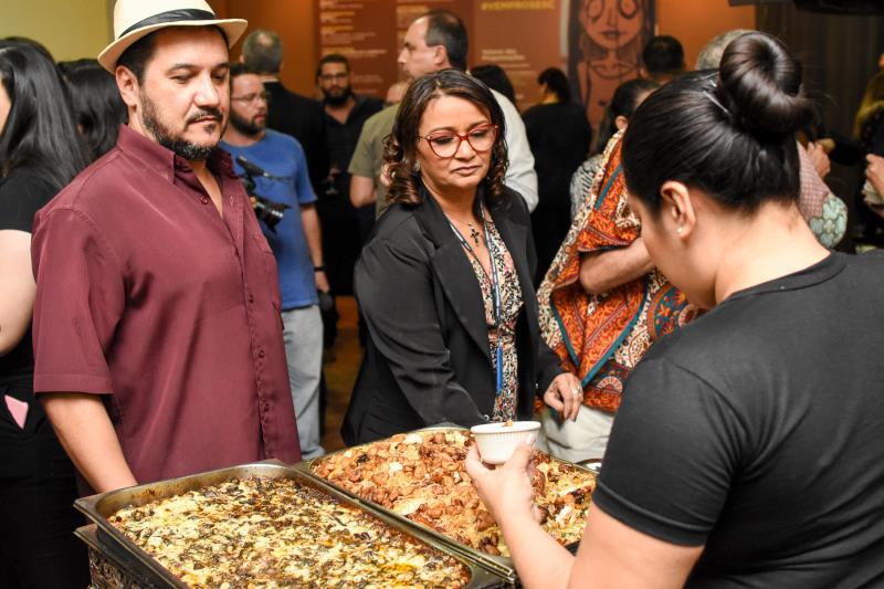 Pratos preparados por chefs foram oferecidos aos participantes da cerimônia de abertura do encontro
