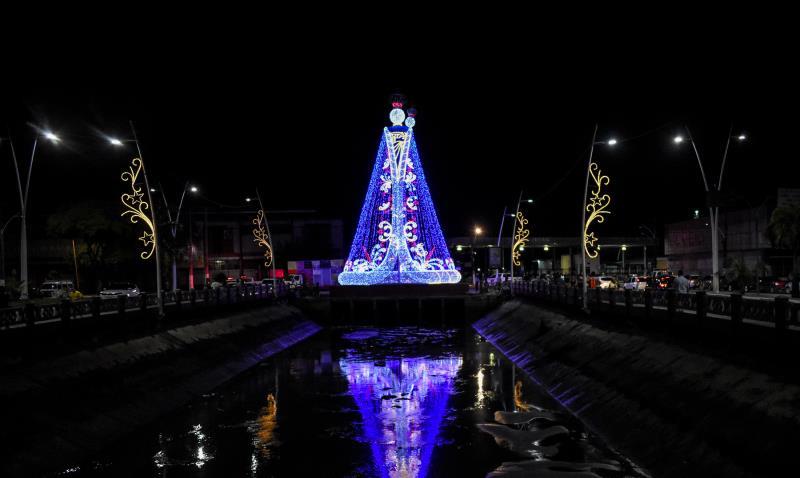 Seurb garantiu a iluminação temática do Círio 2019 pela cidade