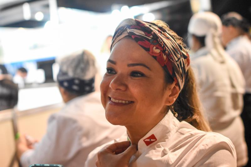 A Chef Tatiane Muniz preparou um pirarucu na manteiga do bacuri.