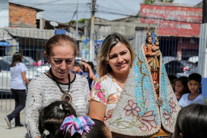 A organização do Círio acostumada a visitar vários lugares durante o ano ficou encantado com o projeto Nazaré das Crianças