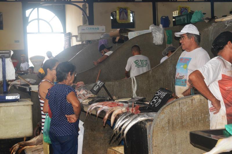 O pescado comercializado nos mercados municipais de Belém apresentou pelo quarto mês consecutivo queda de preço