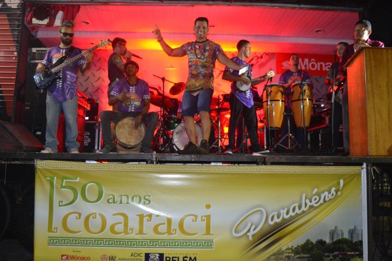 Trilhas da Amazônia e Nazaré Pereira deram um show de musica.