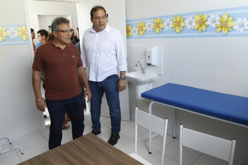 O prefeito de Belém, Zenaldo Coutinho, o secretário municipal de saúde, Sérgio de Amorim, visitaram as instalações da UBS