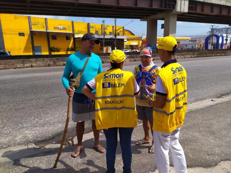 O comando educativo da SeMOB seguirá com a programação nesta sexta-feira, 11, também na avenida Almirante Barroso, na entrada da cidade, no sentido Entroncamento