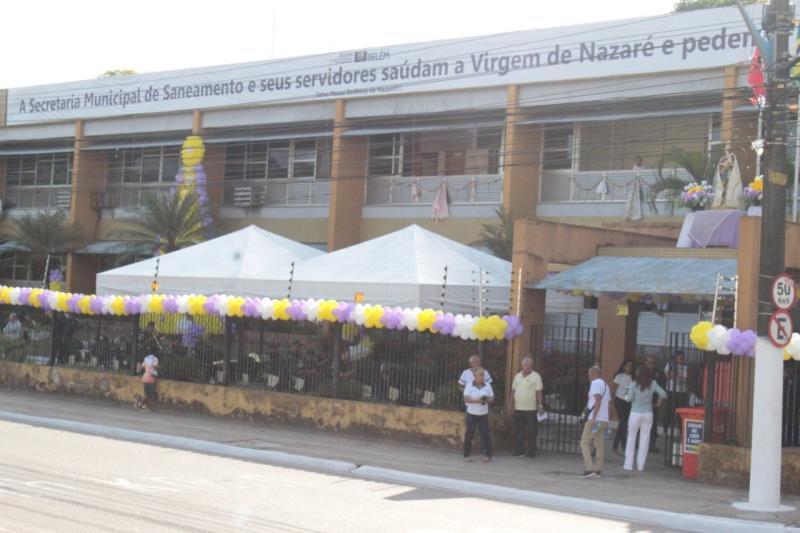 Na manhã desta sexta-feira, 11, a programação contou com uma missa na entrada da secretaria, que foi acompanhada por todos os servidores, além da apresentação da banda da Guarda Municipal de Belém (GMB).