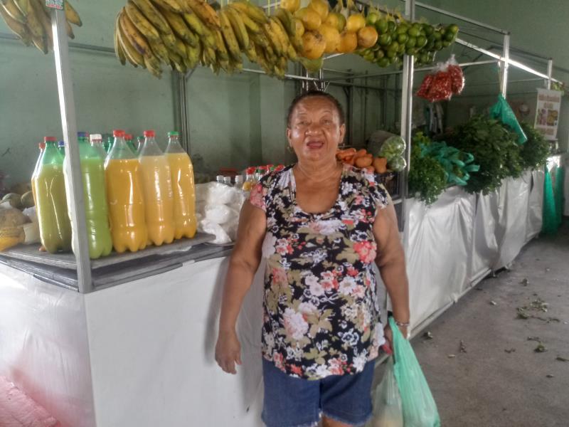 Madalena Trindade comprou tucupi e camarão para fazer um arroz paraense no almoço de domingo