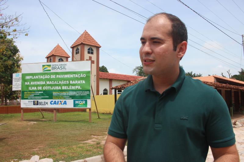 """""""Essa obra vai garantir melhor trafegabilidade aos moradores e turistas, e sem dúvida vai aquecer ainda mais a economia local"""", disse Yan Miranda"""