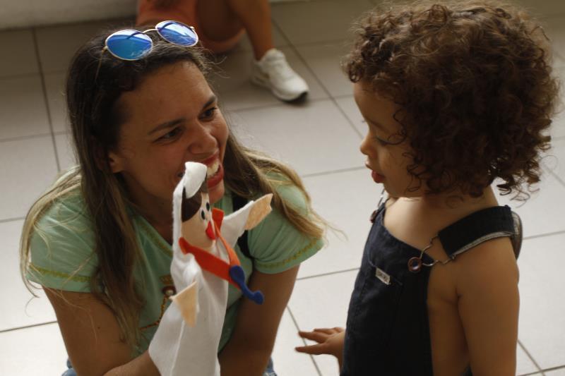 Funpapa recebeu crianças em um espaço recreativo montado na Casa das Artes, ao lado do Santuário Basílica de Nazaré