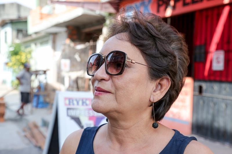 Dolores Brito é uma das 54 mil pessoas que moram no trecho da avenida Bernardo Sayão, entre avenida José Bonifácio e a rua Augusto Corrêa, no bairro do Guamá, inaugurado no dia 5 de julho de 2018, pela Prefeitura de Belém
