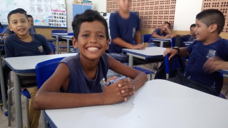 A maioria dos alunos estava confiante com a prova, como o pequeno Enzo Kauê Souza dos Santos, de 11 anos, estudante do 5° ano, que buscou estudar em casa também.
