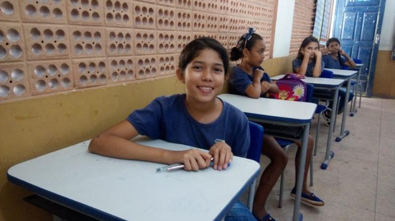 A coleguinha, Nayara Monteiro, de 10 anos, conta que os simulados ajudaram bastante.