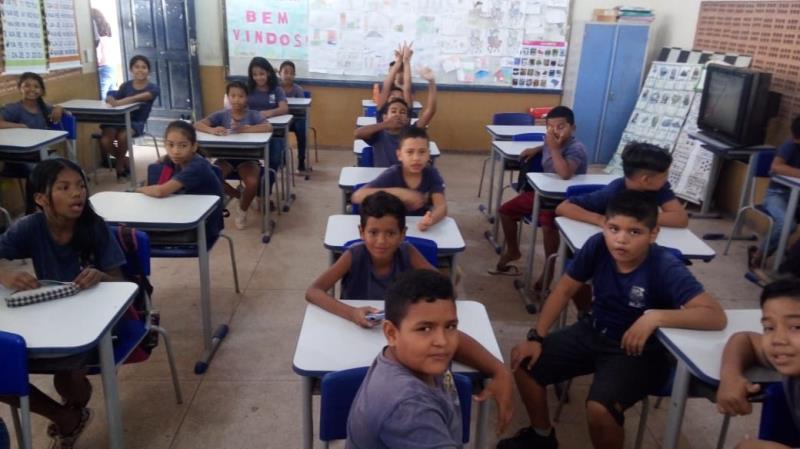 Na Escola Municipal Cordolina Fontelles Lima, localizada no bairro da Pratinha, a prova foi aplicada nesta terça-feira, 29, para os alunos do 5° ano do turno da manhã e tarde.