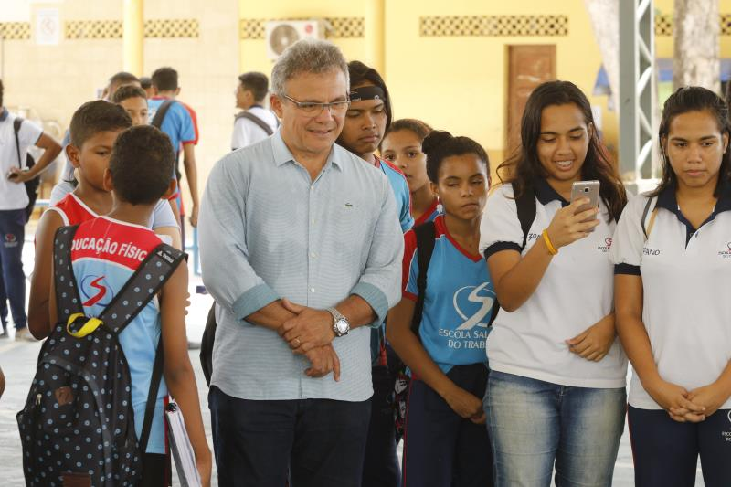 2019.11.06 - PA - Belém - Brasil: Prefeito Zenaldo Coutinho visita a Escola Salesiana do Trabalho.