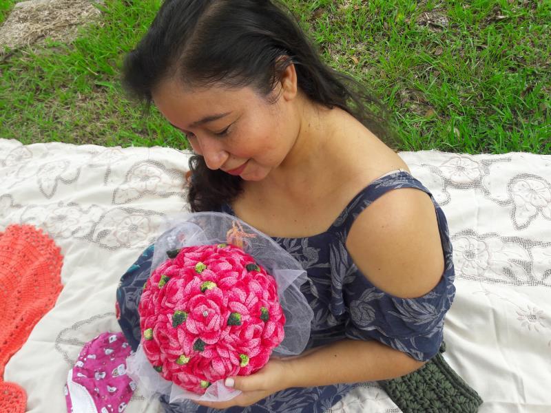 Marcia conheceu o curso de crochê e tricô no ano passado, quando foi à uma loja, no Centro Comercial de Belém, onde encontrou um cartaz com os informativos de como se inscrever.