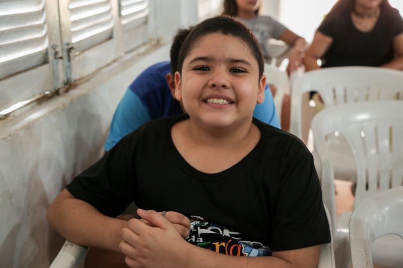 Leandro Gonçalves Silveira, de 9 anos, estudante do 3° ano é um dos integrantes do Clube de Leitura e já se tornou um porta-voz. Ele conta que adora ler para os colegas.