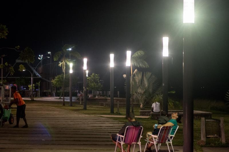 Ao longo de todo o Portal, serão substituídas 101 peças antigas, por luminárias com lâmpadas de LED.