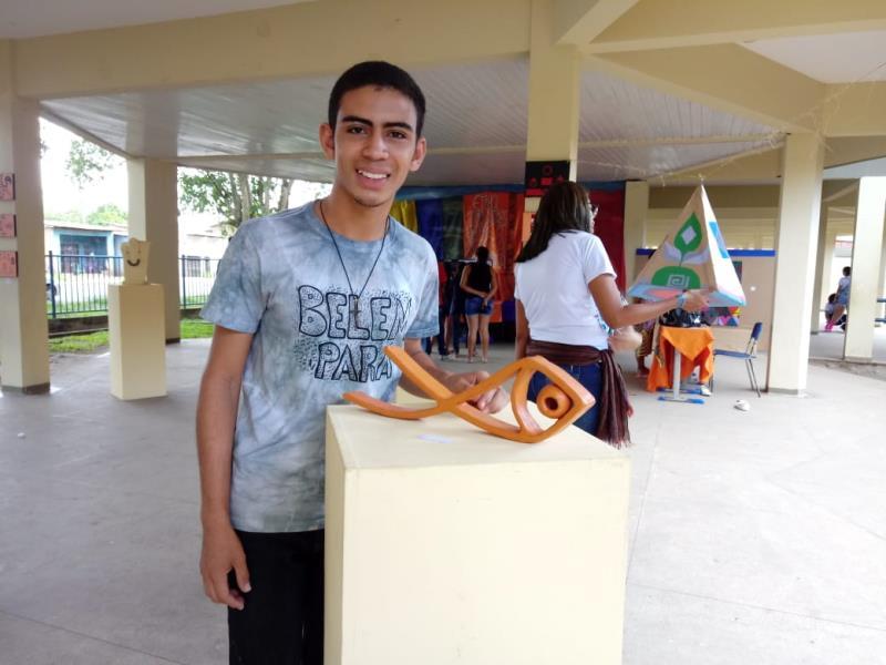 Maian Vidal, ex-aluno do projeto, em 2016, é tão grato ao projeto que busca acompanhar as atividades realizadas pelos novos alunos.