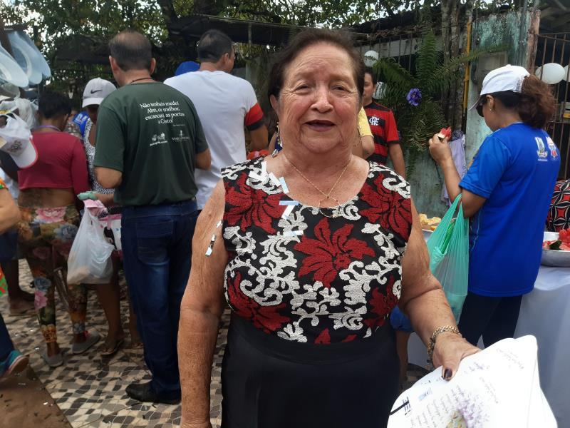 professora aposentada Maria Luiza Silva