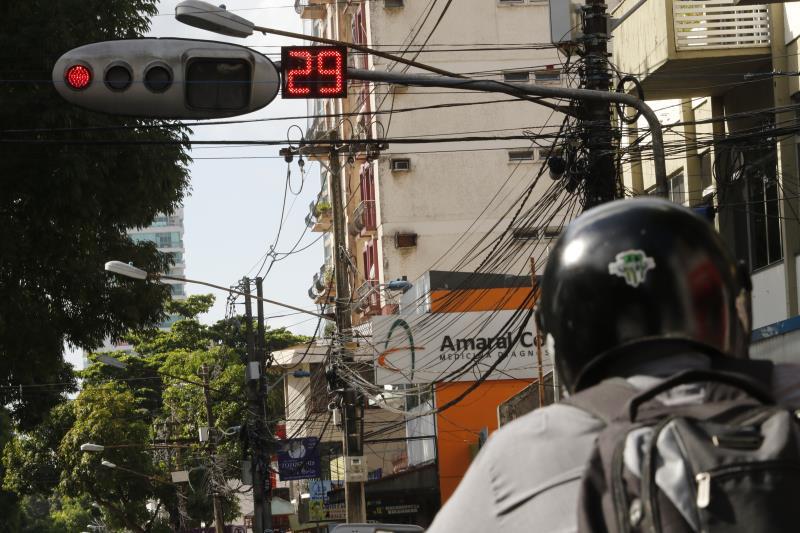 Semob instalou contadores regressivos de semáforos em cruzamentos como o das avenidas Generalíssimo Deodoro com Nazaré