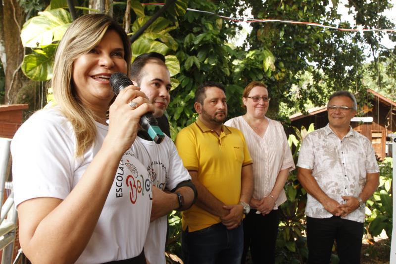 A diretora de negócios da Companhia de Desenvolvimento e Administração da Área Metropolitana de Belém (Codem), Claudia Sadalla, também participou da inauguração